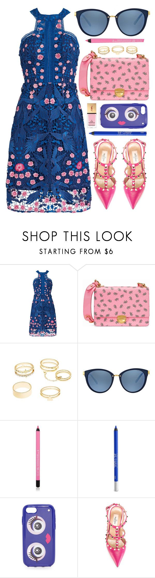 """Chic"" by monmondefou ❤ liked on Polyvore featuring Notte by Marchesa, Prada, Charlotte Russe, Michael Kors, Urban Decay, Kate Spade, Valentino, Yves Saint Laurent, Pink and Blue"