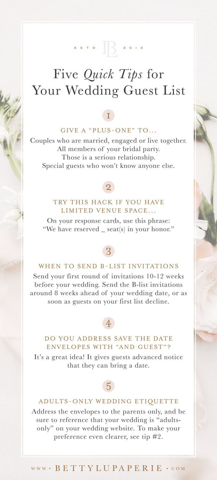 Wedding Guest List Etiquette Floral Wedding Invitations From Betty Lu Paperie In 2020 Wedding Guest List Wedding Guest List Etiquette Floral Wedding Invitations