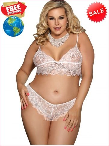 8e131d0a97b Best Prices Lace Plus Size Bra And Panty Lingerie Set 2387150  3qSpWTnaM0JiAV1DvbjH Cheap Sale @RoseGal.com