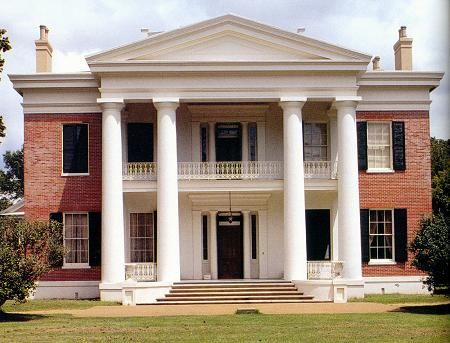 c. 1845 Greek Revival, Natchez, Mississippi. Melrose is the most intact Antebellum estate in the nation. It was completed in 1848 and was the home of John T. McMurran and his family.