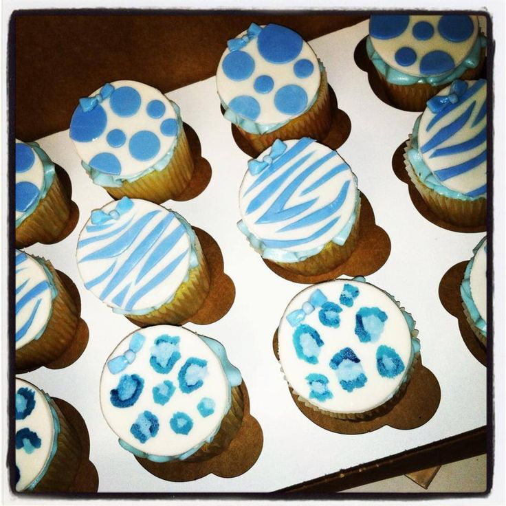 Blue Safari Themed Cupcakes For A Baby Shower... It's A Boy! / Love'n Sweets Home Bakery