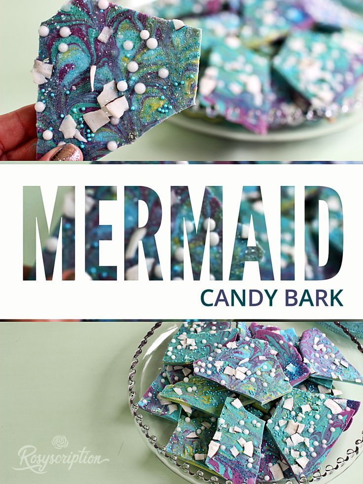 Easy DIY mermaid candy bark idea