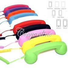 5 Colors Options 3.5mm Mic Retro POP Phone Handset Telephone for iPhone 3 4 G 4S