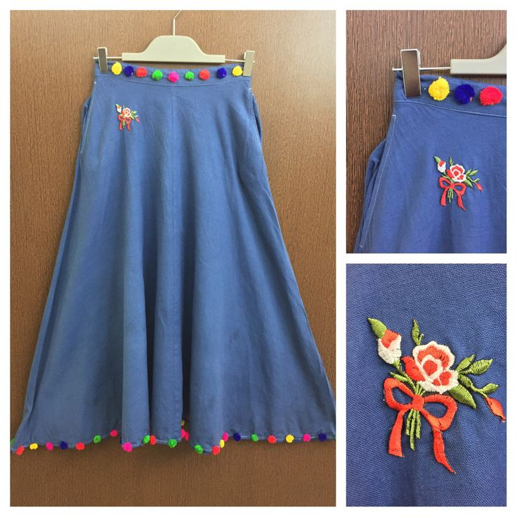 Last few pieces remaining: Stylish Patched L..., visit http://ftfy.bargains/products/stylish-patched-long-denim-skirt-with-colourful-pom-poms?utm_campaign=social_autopilot&utm_source=pin&utm_medium=pin  #amazing #affordable #fashion #stylish
