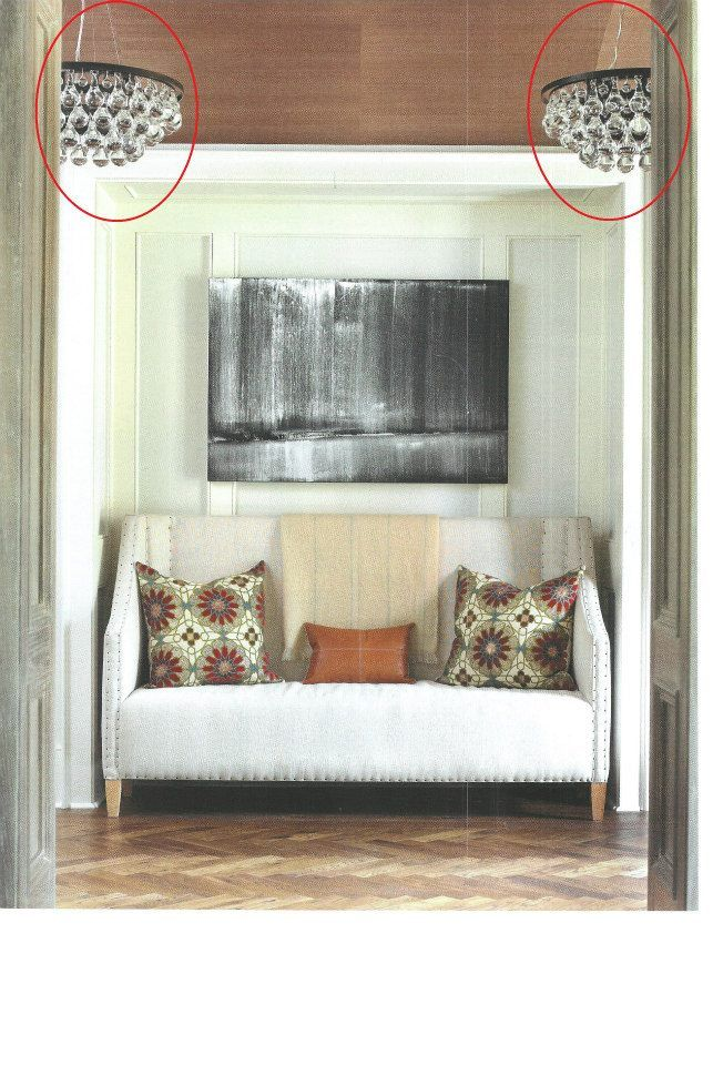 Atlanta Homes & Lifestyles Feb. 2013, pg. 69  Bling Chandelier With Convertible Double Canopy