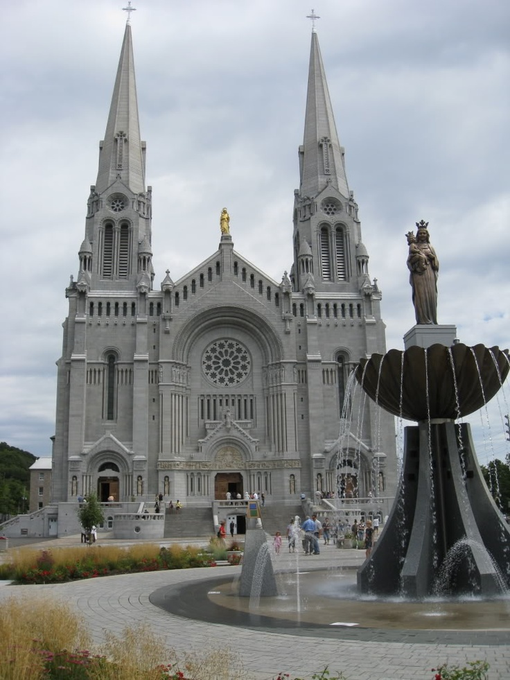 Ste. Anne de Beaupre Shrine-located 30 miles east of Quebec City, family members baptized here