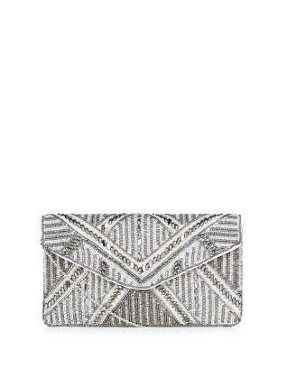 pochette argente orne de perles new look - Pochette Argente Mariage