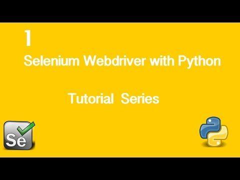 1. Selenium Webdriver with Python Tutorial - Installing Firefox Plugins - YouTube