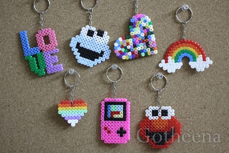 cute hama bead keyrings - Picmia