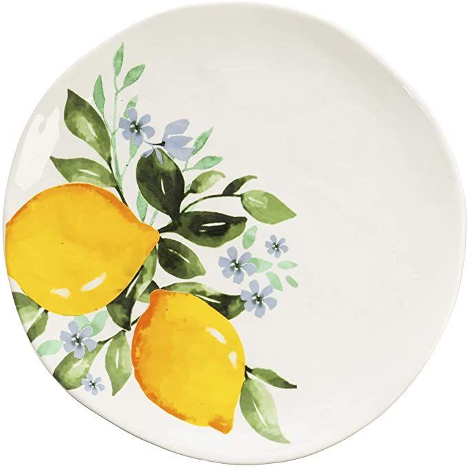 Amazon Com Lemon Drop Ceramic Dinner Plate 10 X 1 X 10 Inches Dinner Plates In 2020 Plates Italian Pottery Dinner Plates