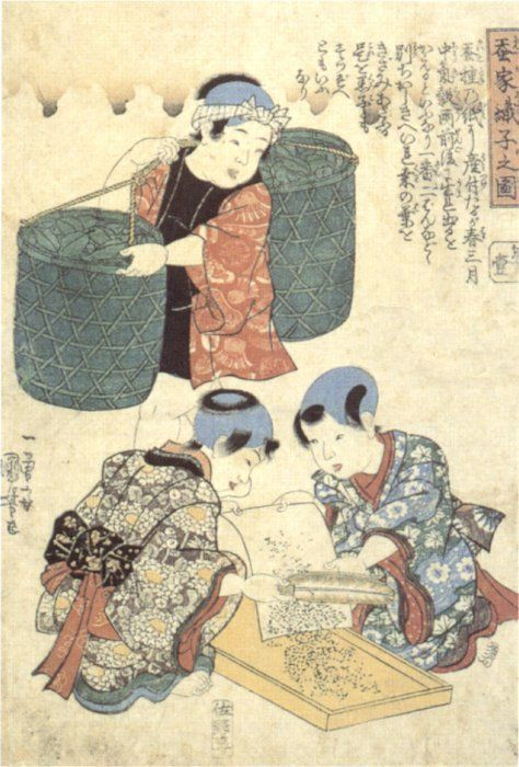 weavers_-children-in-the-silkworm-house-kuniyoshi.jpg (474×700)