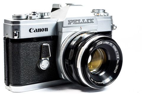 Canon Pellix 35mm SLR Camera with Canon 50mm Lens #Canon #Camera #Vintage #photography #Filmphotography