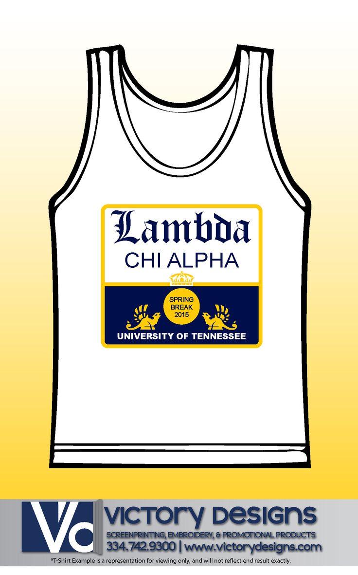 Lambda Chi Alpha Spring Break Tank #comfortcolors