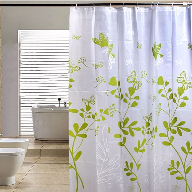 Shower Curtain Modern Waterproof Peva Shower Curtain Green