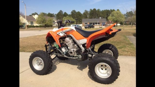 2014 Yamaha Raptor 4 Wheeler Orange And Black 49 Hours