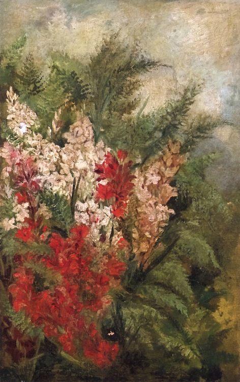 Cave to Canvas, Giovanni Segantini, Lilies, c. 1880-82