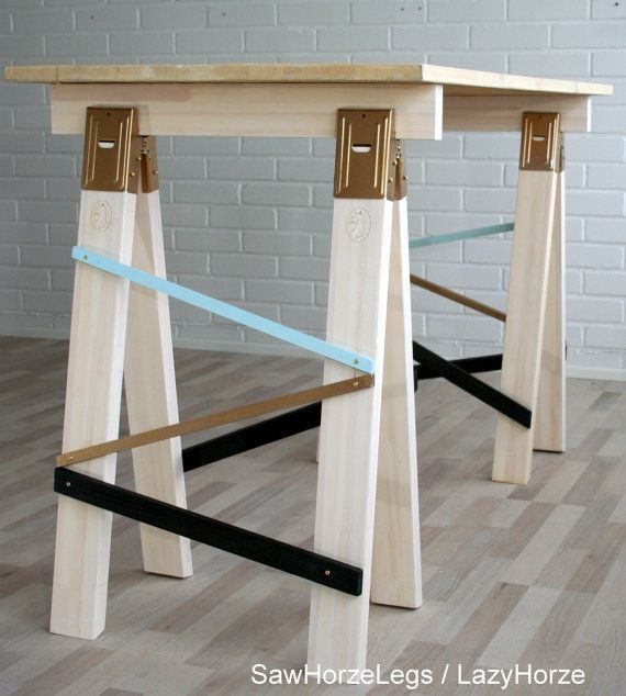 17 best ideas about sawhorse brackets on pinterest home Sawhorse desk legs
