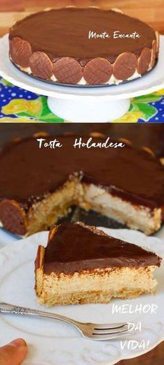 Torta Holandesa com textura macia, bem levinha, sabor delicado. Não tem aquele gosto 'pesadão' de manteiga. Com certeza ela fará o maior sucesso!