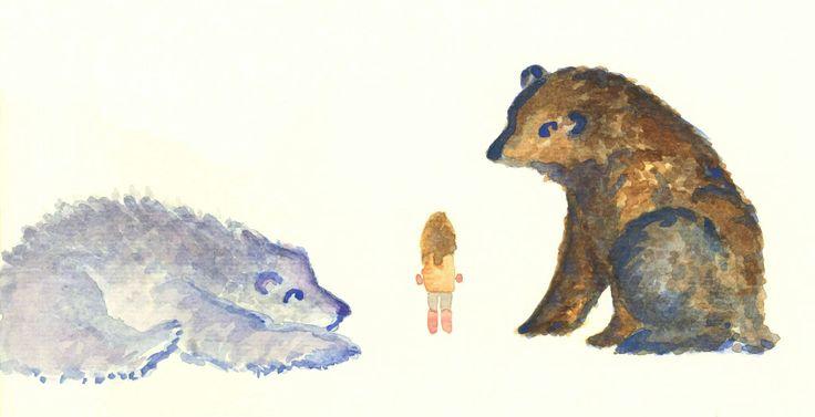 Some large new friends Watercolour by Ashya Lane-Spollen