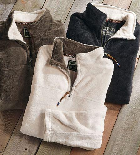 True Grit Flurr Quarter-Zip Fleece Pullover @Kristen - Storefront Life Aller