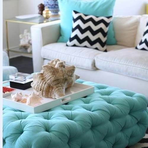 Turquoise decor---the seashell adds a beachy feel to the room! From our NY Interior Design Examiner @Monica Forghani Suma