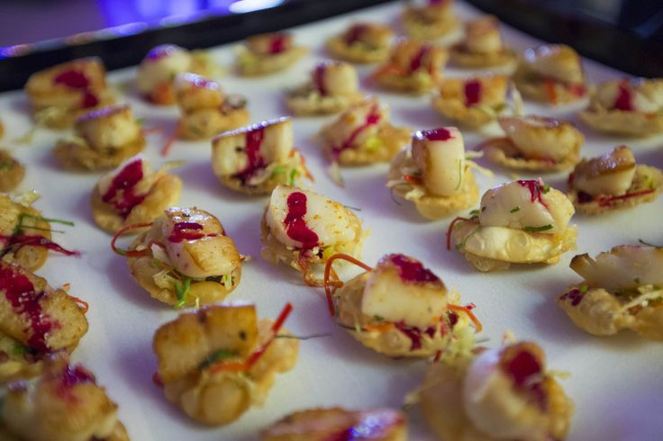 The beautiful canapes by Heyder & Shears