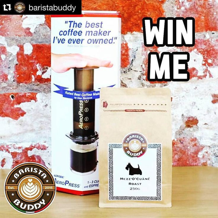 @baristabuddy is my biggest fan on Instagram for my personal page and @Cafe55cle! I would love to win these awesome prizes from Barista Buddy!  #Repost @baristabuddy with @repostapp.   THAT'S RIGHT BUDDIES! You've heard us correctly  We're giving away an AMAZING Aeropress Coffee maker along with a 250g bag of our very own Beautiful Mezz'O'Cuànë Roast  To enter our prize draw simply:  1. REPOST - and copy the content of this post onto your Instagram page (using either a regram or repost app)…
