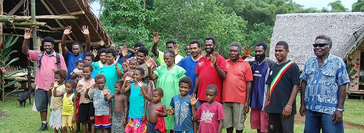 The extended Andikar family welcomes visitors to their village and bushwalk. This tourism venture is owned and run by Ni-Vanuatu, and profits are reinvested into their community.