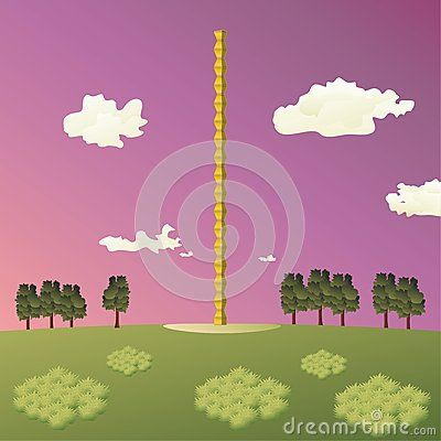 Illustration of the #Constantin #Brancusi's #Endless #Column #sculpture, also known as Column of the #Infinite, from #Targu #Jiu city, #Romania