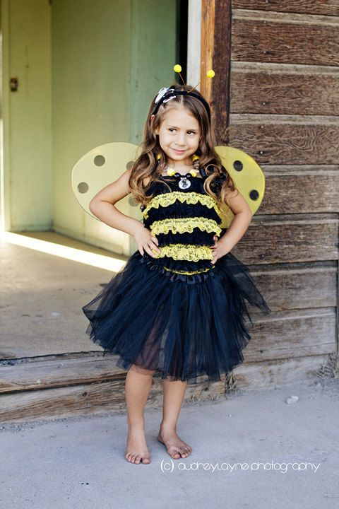 Bumble bee costume petti romper costume 4 piece set by IzzysAttic, $39.99