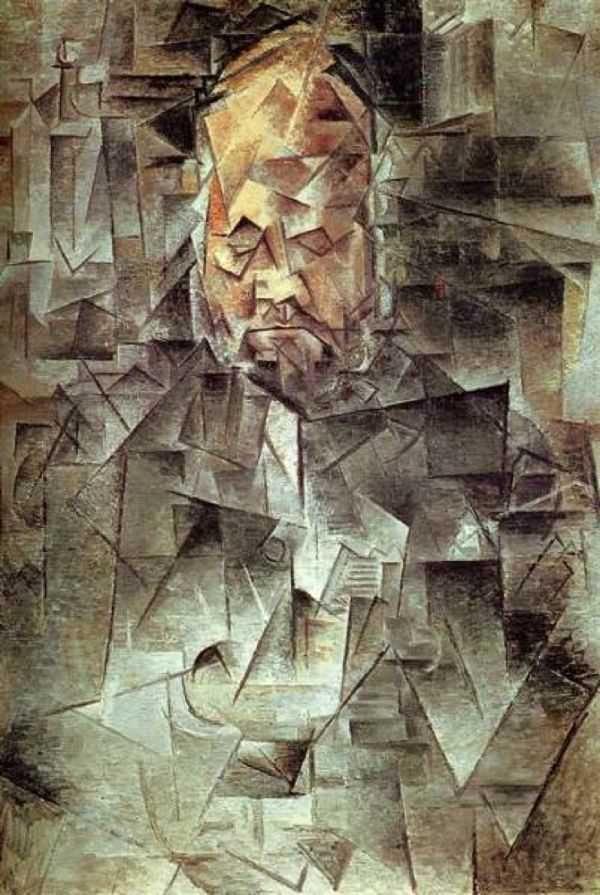 Picasso, Portrait d'Ambroise Vollard. 1909-1910