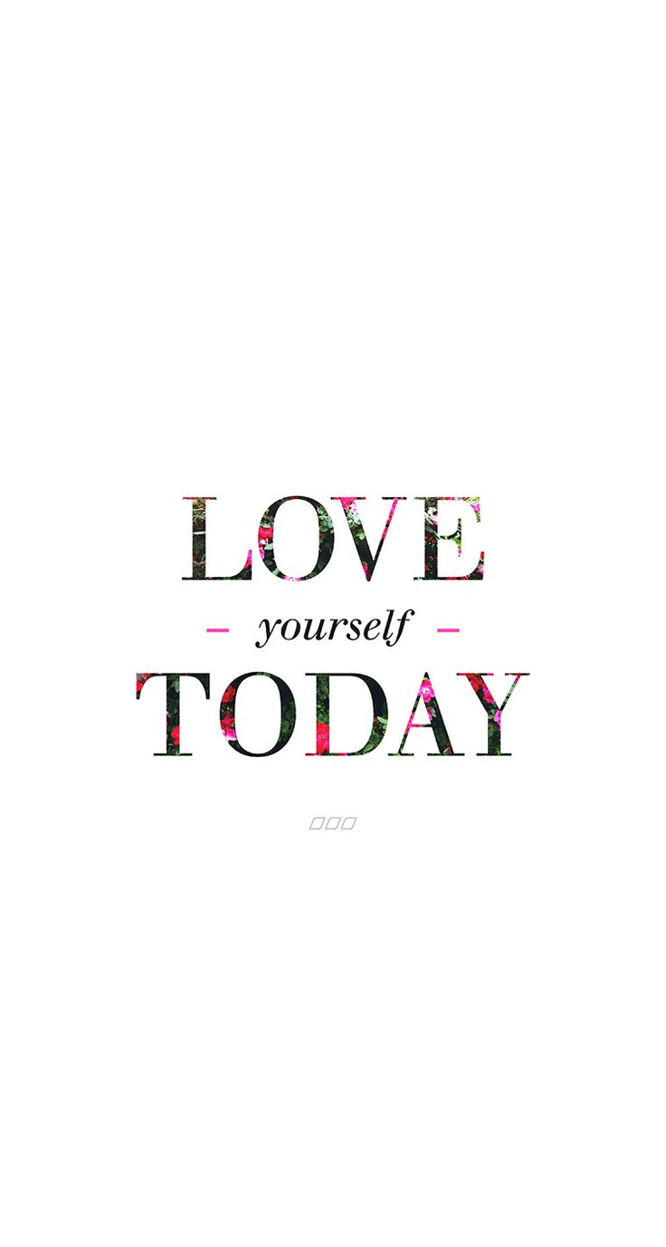 Wallpaper Love Yourself : Minimal white floral Love yourself Today iphone wallpaper phone background lock screen ...
