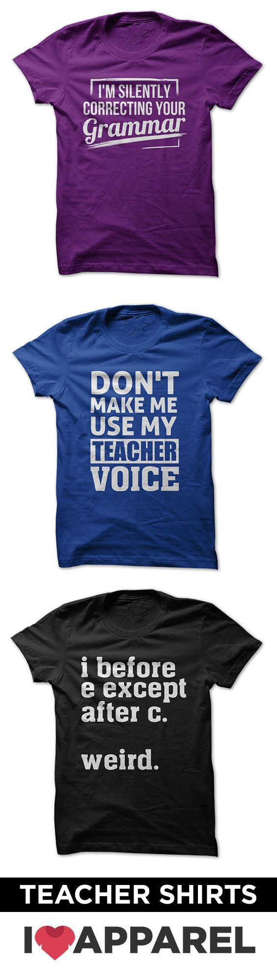 Check out entire collection of teacher shirts.
