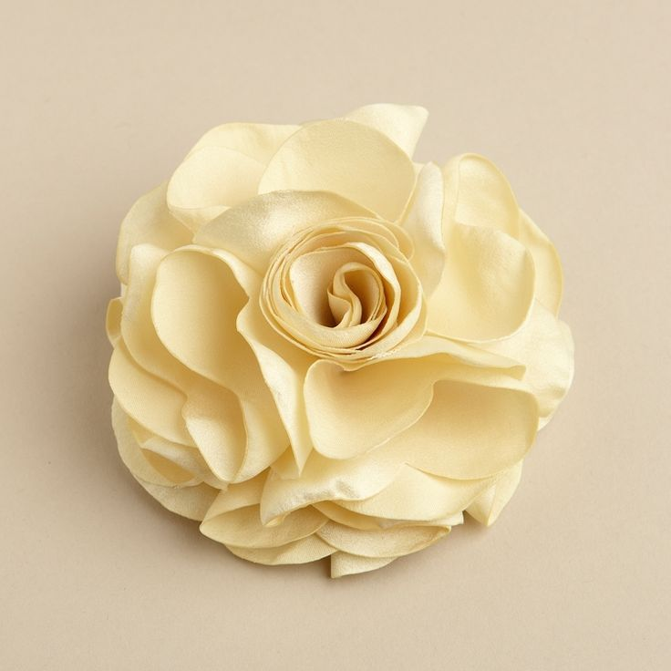 Silk Rose Wedding Hair Clip or Pin - Gold - The Wedding Faire