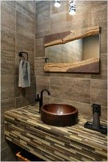 Waney Edge Yew Wood Bi Framed Mirror