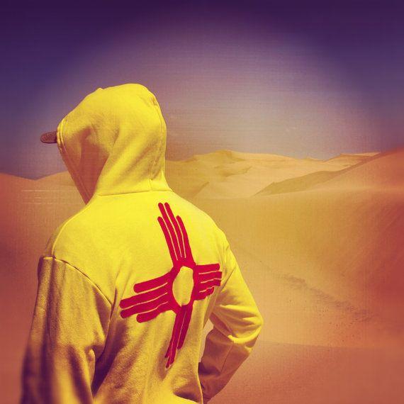 custom New Mexico flag zippy hoodie sweatshirt. $76.00, via Etsy.