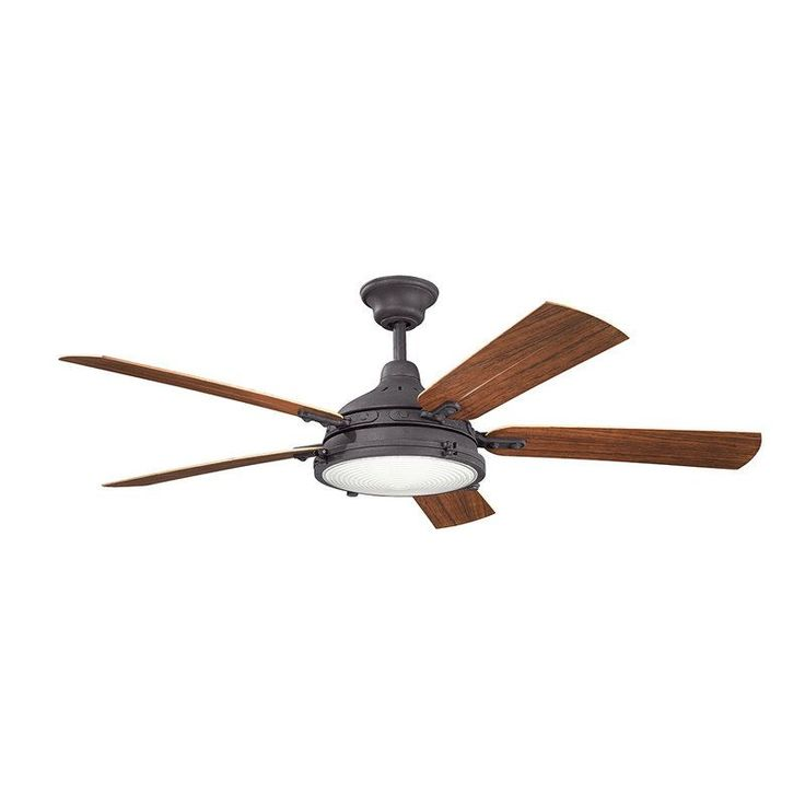 View the Kichler 310117 Hatteras Bay Patio 60 Inch 4 Blade Ceiling Fan with Light Kit at LightingDirect.com.
