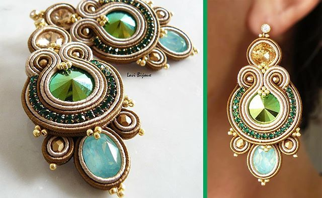 www.etsy.com/it/shop/LaviBijoux  #soutache #earrings #orecchini #handmade #fattoamano #creazioni #beautiful #bijoux #bigiotteria #gioielli #jewelry #pendant #necklace #musthave #fashion #fashionblogger #blogger #estate #summer #swarovski #color #italia #makeup #nailart #picoftheday #love #colorful #amazing