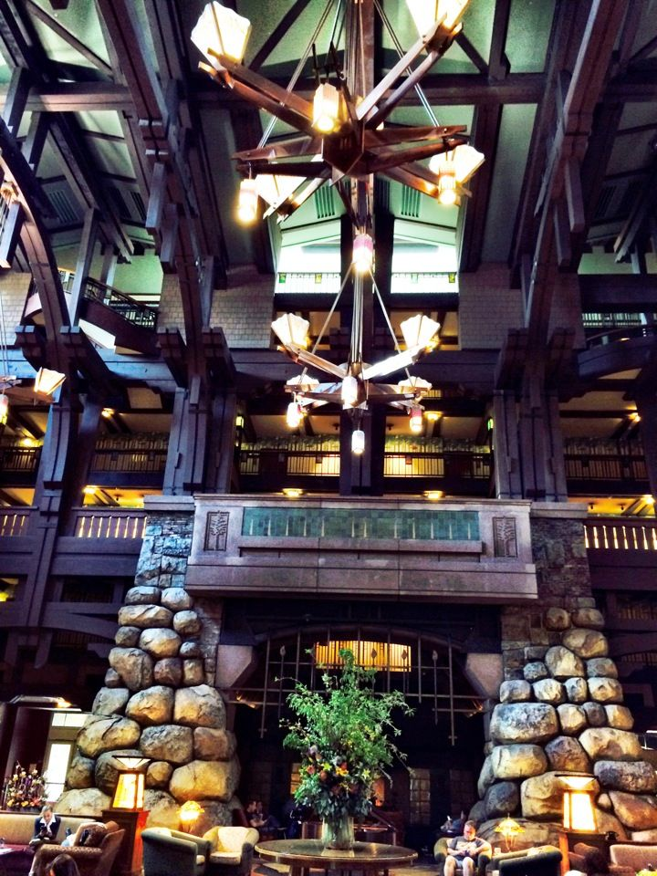 Disney's Grand Californian Hotel & Spa in Anaheim, CA Notice: hidden Mickey on right top of fireplace! Was pointed out to me by Cast Member :)