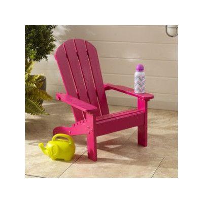 KidKraft Kids Adirondack Chair Finish: Pink