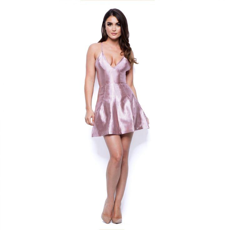Satin Mini Dress   Party Dresses