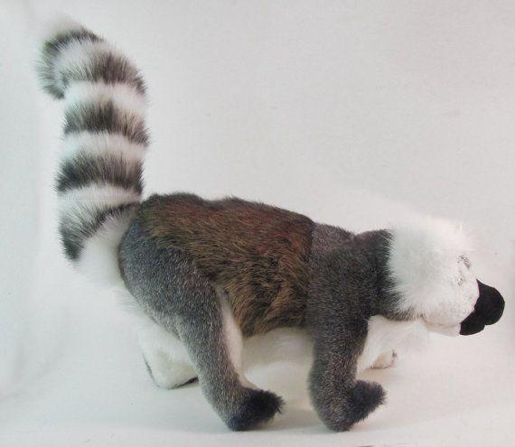 Handmade Ring Tailed Lemur Wildlife Plush by AnimalArtKingdom