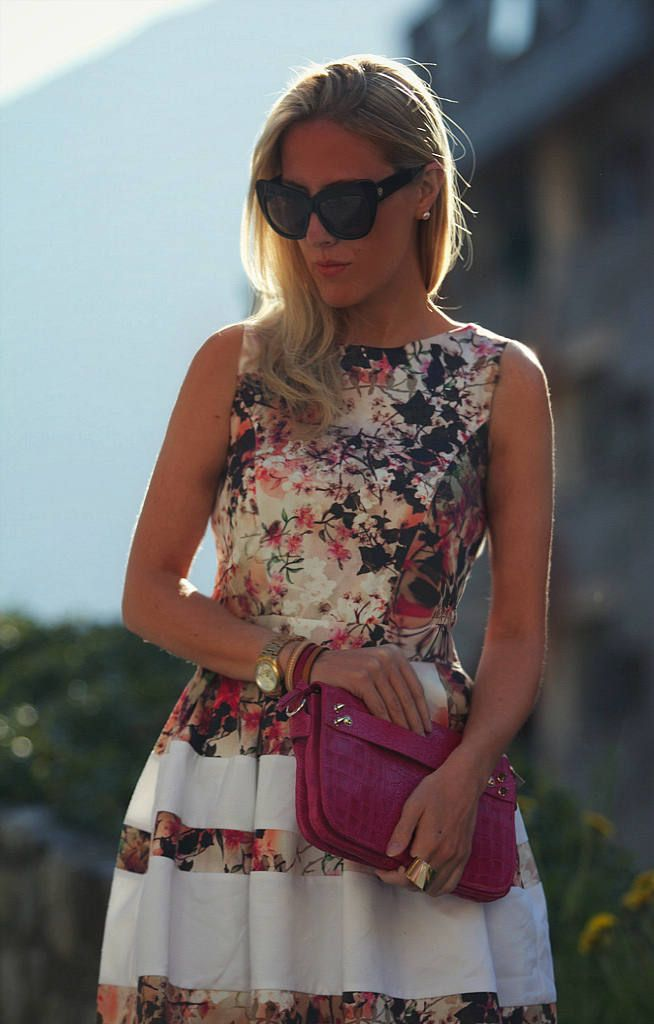 Floral Dress ( Floral Dresses & Clutches ) with Victoria Kemerer <3<3 Visit http://www.makeupbymisscee.com/ For guide + ideas on #style and #fashion