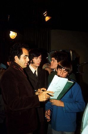 Director James Frawley with the Monkees