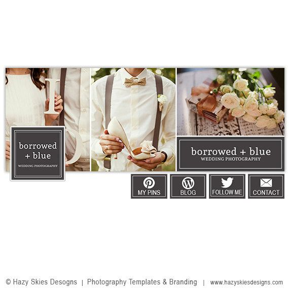 Facebook Cover Template for Photographers, Facebook Timeline Cover Photoshop Templates, Facebook Header Template  - FB167