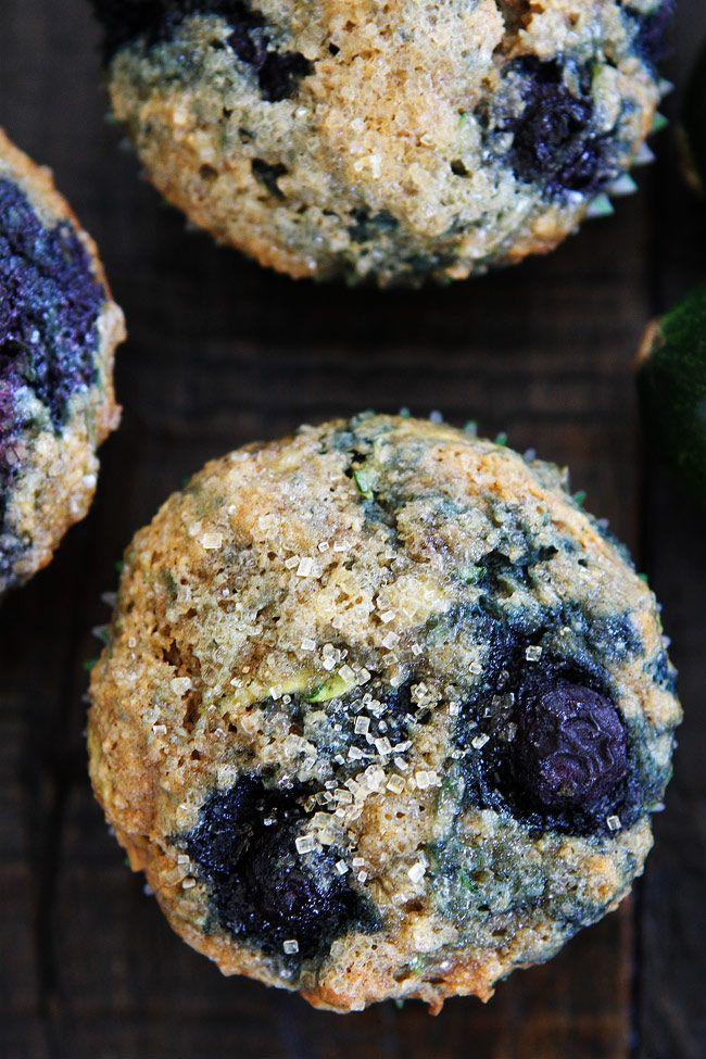 Zucchini Banana Blueberry Muffin Recipe on twopeasandtheirpod.com These…
