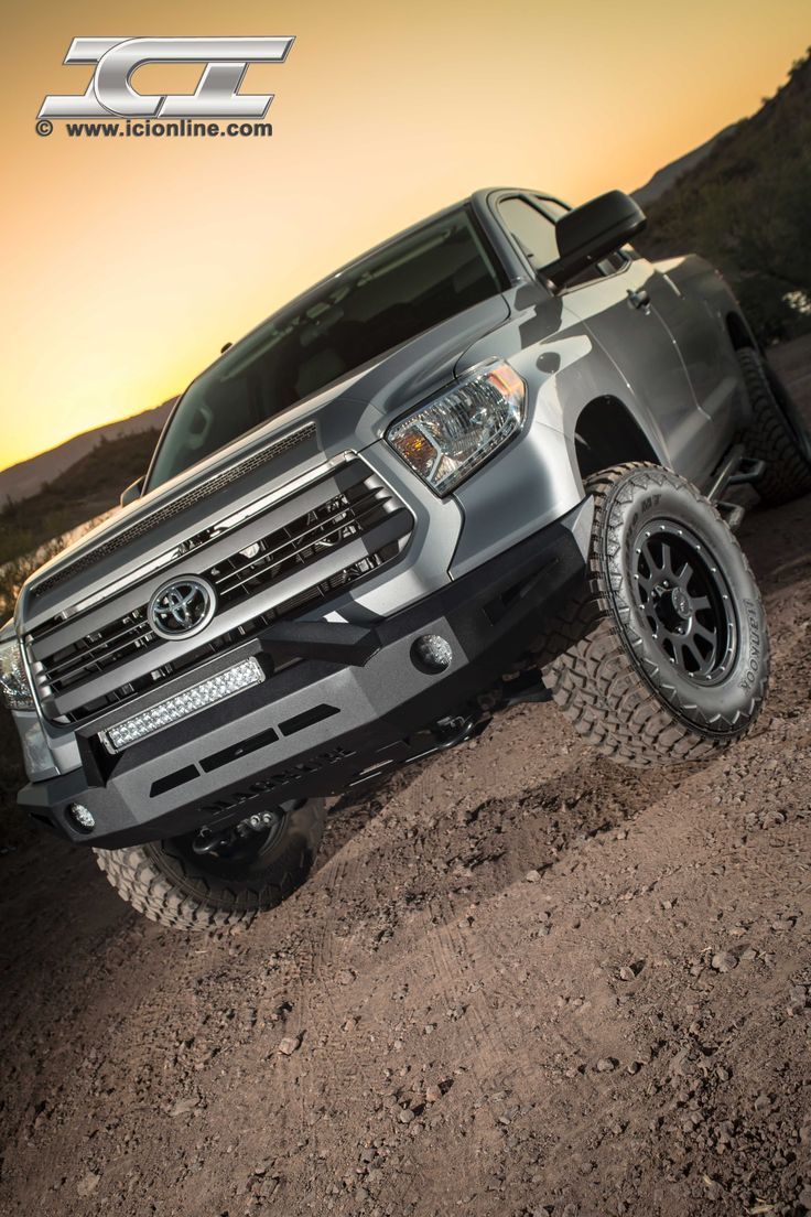 Magnum bumper for the 2014 toyota tundra pictured with rt series light bar