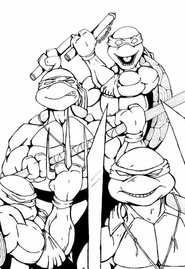 top 25 free printable ninja turtles coloring pages online - Colouring In Pages For Kids