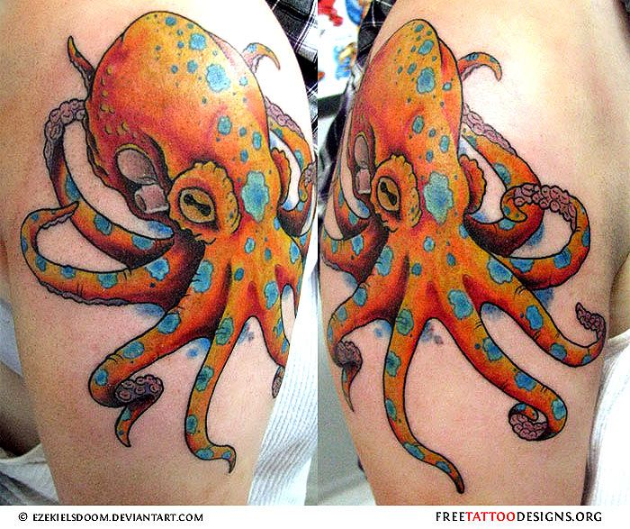 Blue ringed octopus tattoo