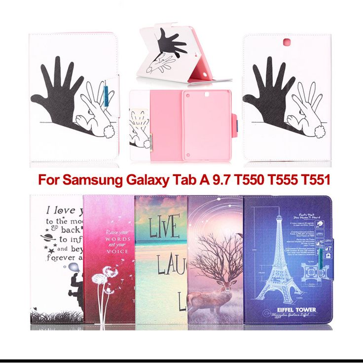 """Fashion Flip PU Leather Case cover For Samsung Galaxy Tab A 9.7"""" T550 T551 T555 SM-T550 SM-T555 9.7inch tablet cases KF5105D #Affiliate"""